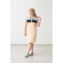 Жен. платье арт. 19-0157 Пудра р. 42