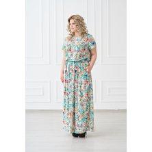 Жен. платье арт. 19-0140 Ментол р. 44