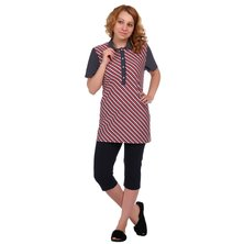Жен. блуза арт. 16-0346 Красный р. 50