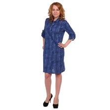 Жен. платье арт. 16-0345 Темно-синий р. 50