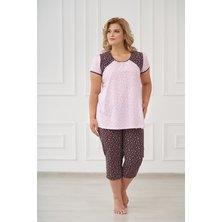 Жен. пижама арт. 19-0175 Шоколадный р. 48