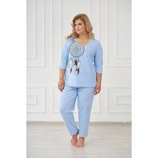 Жен. пижама арт. 19-0176 Голубой р. 42