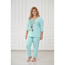 Жен. пижама арт. 19-0176 Ментол р. 42