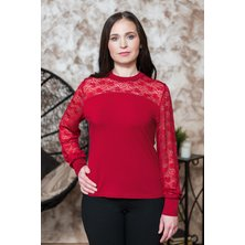 Блуза арт. 19-0230 Бордо