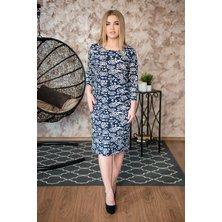 Платье арт. 19-0243 Темно-синий