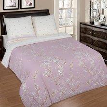 """Комплект постельного белья """"Сакура"""" + размеры с простыней на резинке"""