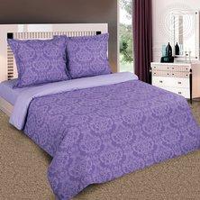 """Комплект постельного белья """"Византия"""" Фиолетовый + размеры с простыней на резинке"""