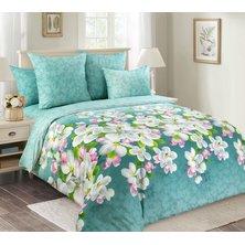 """Комплект постельного белья """"Яблони в цвету"""" Зеленый"""