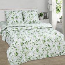 """Комплект постельного белья """"Белый сад"""" + размеры с простыней на резинке"""