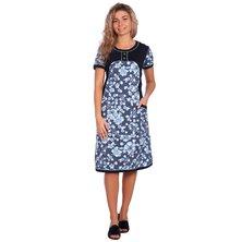 Туника-платье арт. 16-0642 Темно-синий