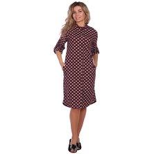 Туника-платье арт. 16-0669 Бордовый