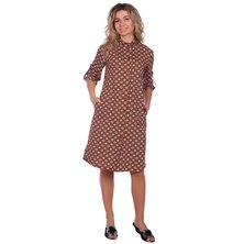 Туника-платье арт. 16-0669 Коричневый