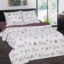 """Комплект постельного белья """"Мокко"""" + размеры с простыней на резинке"""