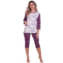 Пижама арт. 16-0705 Бордовый