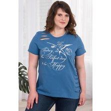Блуза арт. 19-0303 Индиго