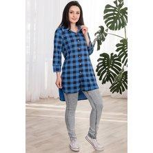 Туника-рубашка женская арт. 19-0063 Синий