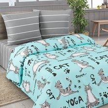 """Комплект постельного белья """"Йога кошки"""""""