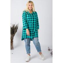 Туника-рубашка женская арт. 19-0063 Зеленый