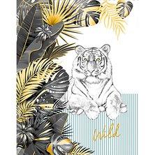 """Вафельное полотенце """"Белый тигр"""" В ассортименте"""