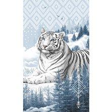 """Вафельное полотенце """"Бенгальский тигр"""""""