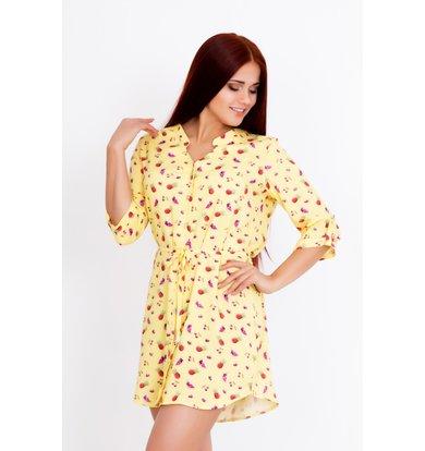 """Жен. рубашка """"Линда"""" Желтый р. 44"""