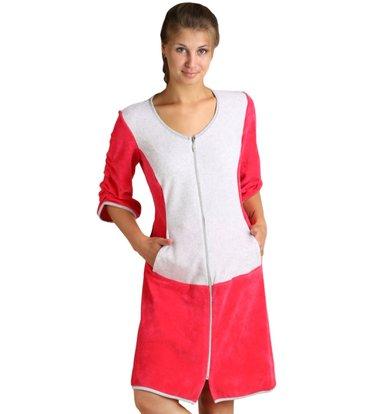 Женский халат «Вика» Малиновый