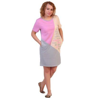 Платье арт. 16-0256 Персиково-розовый