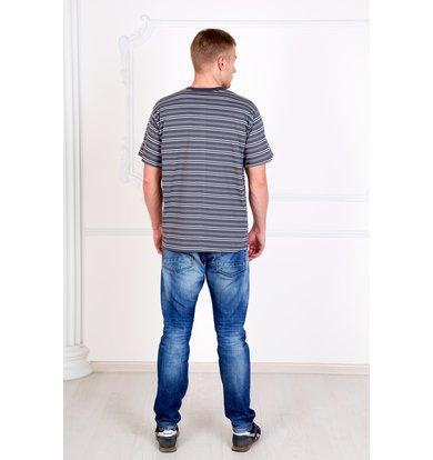"Мужская футболка ""Полосы"" Серый"