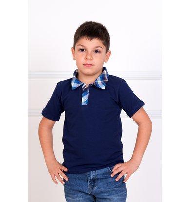 """Детская футболка-поло """"Лаки"""" Синий"""