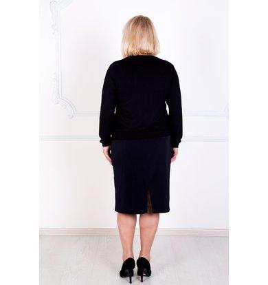 """Женская блуза """"Лира"""" Черный"""