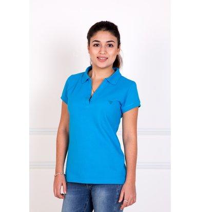 """Женская футболка-поло """"Шерт"""" Голубой"""