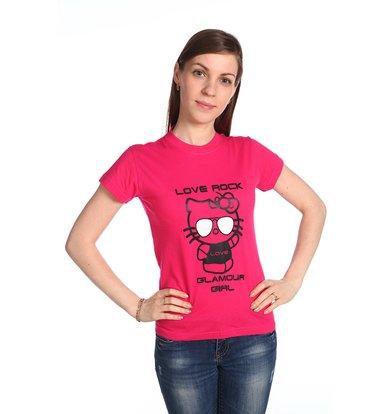 """Женская футболка """"Glamour Girl"""" Розовый"""