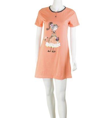 """Женская сорочка """"Девочка"""" Персиковый"""