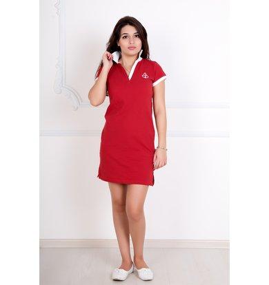 """Женское платье """"Поло"""" Красный"""
