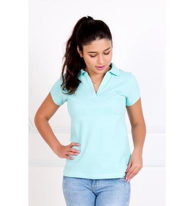 """Женская футболка-поло """"Шерт"""" Ментол"""