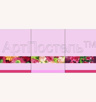 "Набор полотенец ""Цветочная палитра"" Розовый р. 45х60"