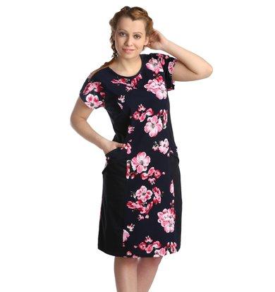 Жен. платье арт. 16-0122 Малиновый р. 50