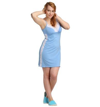 Жен. сорочка арт. 16-0116 Голубой р. 42