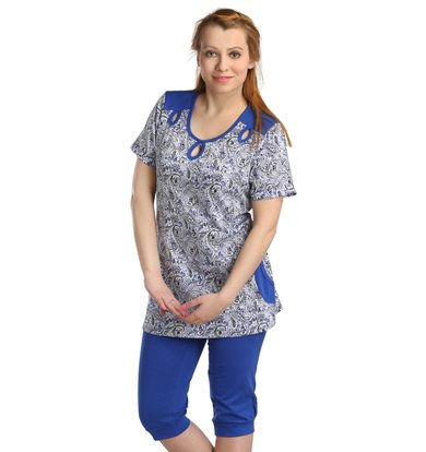 Жен. костюм арт. 16-0126 Синий р. 48