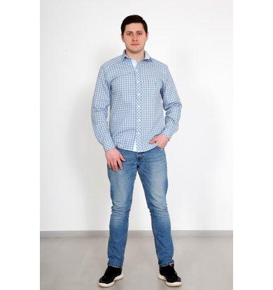"""Муж. рубашка """"Новик"""" Голубой р. 50"""