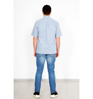 "Муж. рубашка ""Жора"" Голубой р. 50"