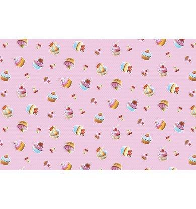 "Вафельное полотенце ""Сластена"" Кексы р. 100х150"