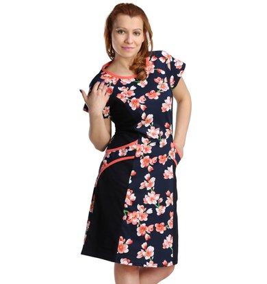 Жен. платье арт. 16-0122 Коралловый р. 52
