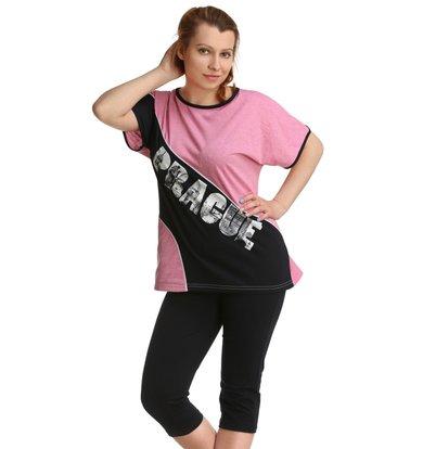 Жен. костюм арт. 16-0155 Розовый р. 52