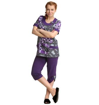 Жен. костюм арт. 16-0151 Фиолетовый р. 50