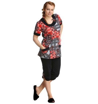 Жен. костюм арт. 16-0151 Коралловый р. 50