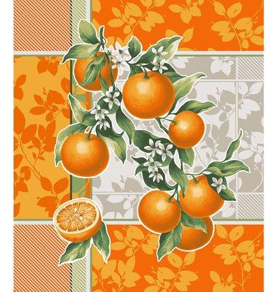 """Вафельное полотенце """"Апельсиновый сад"""" р. 50х60"""