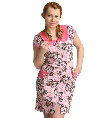 Жен. халат арт. 16-0165 Розовый р. 44
