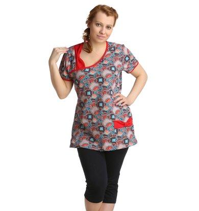 Жен. костюм арт. 16-0169 Красный р. 48