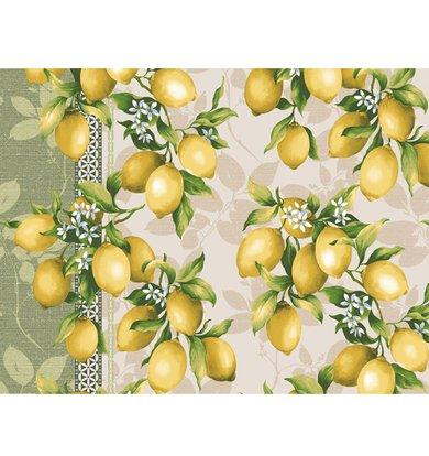 "Вафельное полотенце ""Лимоны"" р. 40х47"
